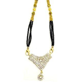 American Diamond Wedding Wear Elegant Mangalsutra for Women by GoldNera