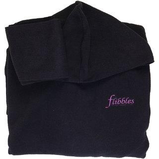 Flibbles Kids Black Fleece wearable Blanket