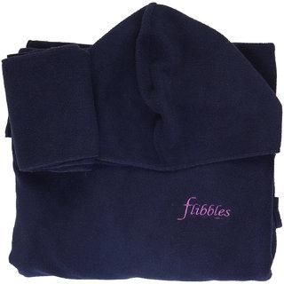 Flibbles Kids Navy Blue Fleece wearable Blanket