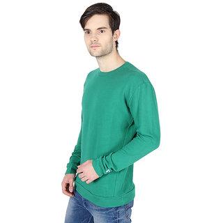 Threads  Pals Green Round Neck Sweatshirt for Men