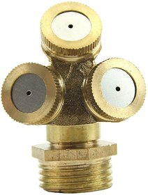 Futaba 3 Hole Adjustable Brass Spray Misting Nozzle Gardening Sprinklers - Male /External Thread