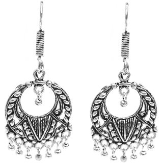 Silver oxidised Hanging Earring