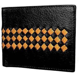 Casual Black Leather Wallet