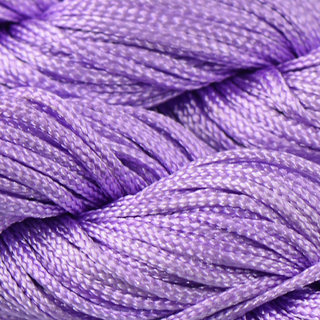 Phenovo 30 Meters 1mm Kumihimo Nylon Braided Cord Thread Shambhala Bracelet Purple