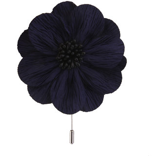 Phenovo Mens Handmade Flax Flower Lapel Brooch Boutonniere Tuxedo Corsage Stick Pin