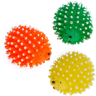 Magideal Hedgehog Style Pet Dog Chew Toy Squeaker Ball