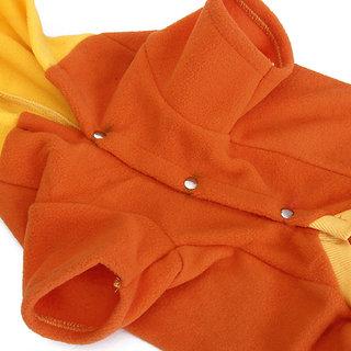 Magideal Pet Dog Spring Autumn Hoodie Coat Clothes Apparel Size XS - Orange