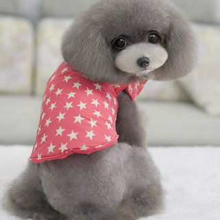 Magideal Pet Dog Reversable Vest Clothes Sleeveless Coat Jacket Apparel Size M Pink
