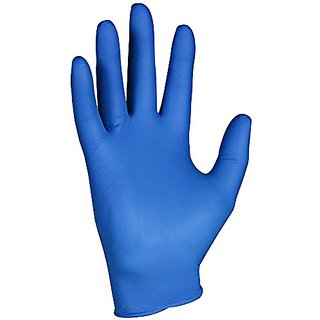Kleenguard G10 Arctic Blue Nitrile Gloves (90098), Ambidextrous, Powder Free, Large, 10 Dispensers / Case, 200 Gloves /