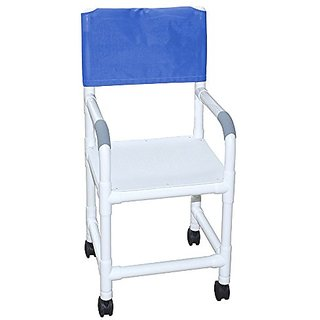 MJM International 115-3TW-F Pediatric Shower Chair with Flat Stock Seat, Royal Blue/Forest Green/Mauve