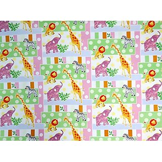 SheetWorld Fitted Pack N Play Sheet - Jungle Animals & Dots - Made In USA