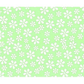 SheetWorld c-w602-FD c-w602-FD Crib / Toddler Sheet - Pastel Green Floral Woven - Made In USA