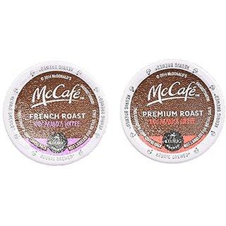 McCafe Premium Coffee K-Cup 2 Flavor Variety Bundle: (1) McCafe Premium Roast Arabica Coffee, and (1) McCafe Premium Fre