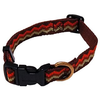 Petz Best Dog Medium 3/4-Inch Brown Jagged Recycled Poly Collar, 10-Inch to 16-Inch