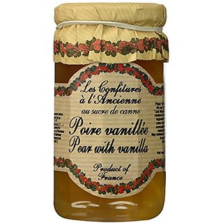 Pear Vanilla Jam Andresy All natural French jam pure sugar cane 9 oz jar Confitures a lAncienne, One