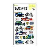 Darice 1214-29 16 Piece Race Car Themed Holographic Sticker