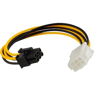 JacobsParts 8-Inch 6 pin PCI Express Power Extension Cable for Video Card