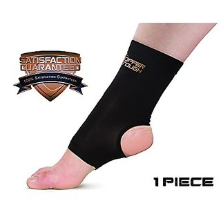 Copper Tough Compression Ankle Brace - High Performance Copper Compression Sleeve for Enhanced Circulation, Recovery, Jo