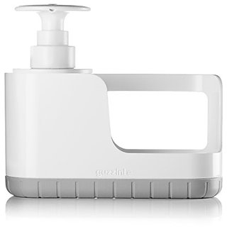 Guzzini My Kitchen Sink Tidy Caddy with Soap Dispenser, 7-1/2-Inches, Matte Grey