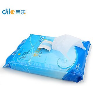 Dile Dele Newborn Baby Chaning Mat Towel Breathable Baby Urine Pad 200pcs Soft Comfortable Non-woven Baby Diaper Towel (