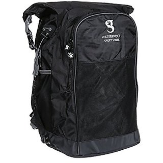 geckobrands Waterproof All Sports Backpack, Black/Grey