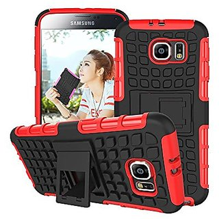 Samsung Galaxy S6 Edge Case,heavy Duty Tough Rugged Dual Layer Case with Built-in Kickstand, Tank Series Slim Fit Dual L
