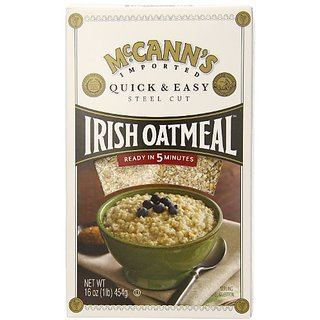 McCANNS Steel Cut Irish Oatmeal, Quick & Easy, 16-Ounce Boxes (Pack of 6)