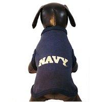 NCAA Navy Midshipmen Cotton Lycra Dog Tank Top, Tiny