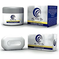 Activo2 Acne Treatment System With Cleansing Bar And Clearing Cream - All Natural