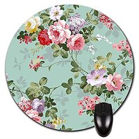Show Love To Your True Love, With Flowers Like Sleeping Princess Round Mouse Pad