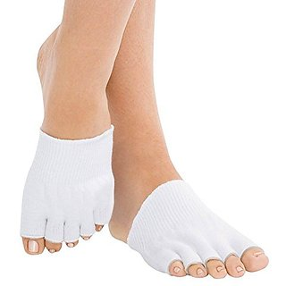 ASRocky Gel-lined Open Toes Compression Socks Therapeutic Spa Toe Separating Comfy Gel Socks Foot Pain Relief Moisturizi