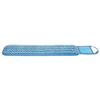 Rubbermaid Commercial FGQ42500BL00 HYGEN Microfiber Mop Pad, Damp with Scrubber, Single-Sided, 24-inch, Blue