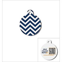 RuMe QR Code Pet ID Tag With URL Registration System, Navy Recycled Pet ID Tag Aluminum Quantity Of 1