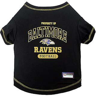 Pets First NFL Baltimore Ravens Tee Shirt, X-Small