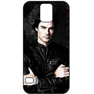 Ian Somerhalder Personalized Black Rubber TPU Shockproof Phone Case Cover Skin for Samsung Galaxy S5 i9600