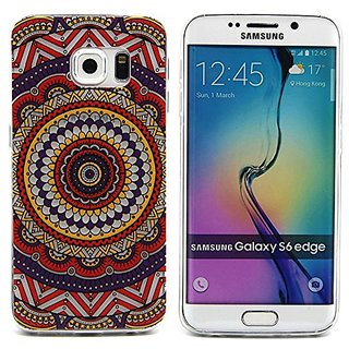 Galaxy S6 edge Case,3Cworld Ultra Thin Clear Art Pattern Crystal Gel TPU Rubber Flexible Slim Skin Soft Case for Samsung