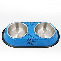 Pet Food Bowls,Linka Double Diner Pet Bow,l Pet Bowl,Dog Bowl,Cat Bowl,Pet Water Bowl Made Of Stainless Steel For Long D