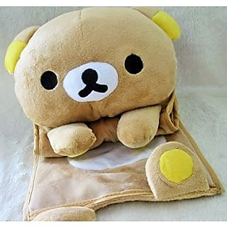 E-busienss Rilakkuma San-x Wall Hanging Storage Bag 3 Pockets 3 Designs (bear)