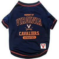Pets First Collegiate University Of Virginia Dog Tee Shirt, Small