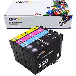 Hi ink 5 Pack Remanufactured T220XL High Yield Ink Cartridge for Epson Workforce Wf-2630 Wf-2650 Wf-2660 Expression XP-3