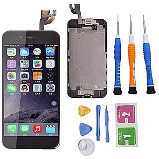 Wefix iphone 6 Replacement Digitizer and Touch Screen LCD Assembly With Spare Parts (Home Button, Flex Cable, Tools But