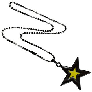 Men Style Star  Black and Yellow  Alloy Star Pendent For Men And Women