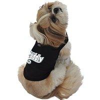 Ruff Ruff And Meow Dog Tank Top, Im Soo Cuddly, Black, Small