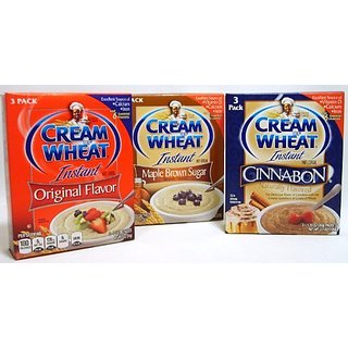 Cream Of Wheat Instant Cereal Original Flavor, Maple Brown Sugar, And Cinnabon - 3 Boxes, 3 Flavors, 1 Flavor Per Box, E