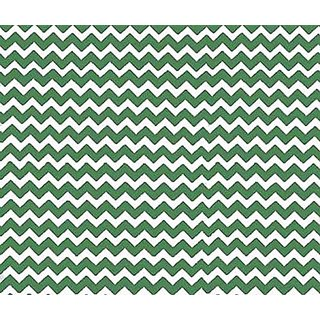 SheetWorld PC5B-W108 PC5B-W108 Fitted Portable / Mini Crib Sheet - Forest Green Chevron Zigzag - Made In USA