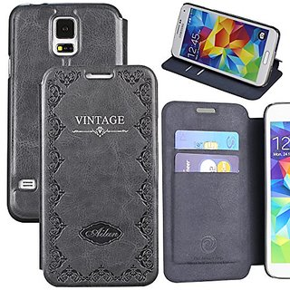 Galaxy S5 Case,by Ailun,Wallet Case,Samsung Galaxy i9600 Case,Card Holder Case,Stand Feature,Magic Book Case,Flip Cover