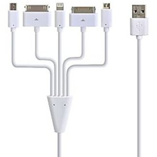 Ustars 1.64ft 5-in-1 Micro USB Charging Cable Data Sync Cable for iPhone, iPad, iPod, Galaxy Tab, Samsung and Android Sm