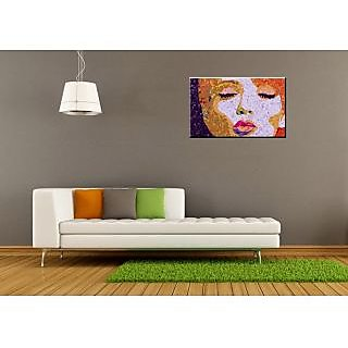 Transmute Multicolor Pop Art Canvas Painting