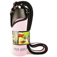 H2O4K9 Combo Pack Neosling And 25-Ounce Dog Water Bottle And Travel Bowl, Baby Pink