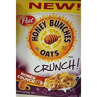 Post, Honey Bunches Of Oats, Crunch! Os Cereal, 14oz Box (Pack Of 4) (Choose Flavor) (Honey)